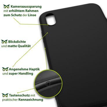 Apple iPhone X Xs Max Xr Handy Schutzhülle Tasche Silikon Hülle Case Black Matt – Bild 18