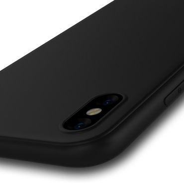 Apple iPhone X Xs Max Xr Handy Schutzhülle Tasche Silikon Hülle Case Black Matt – Bild 14
