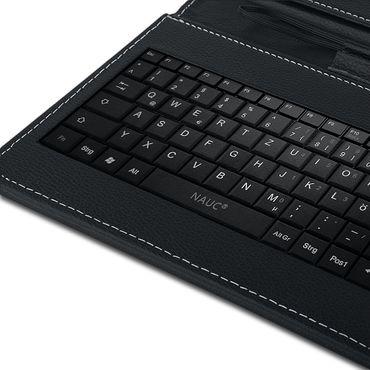 Medion Lifetab P10610 Tastatur Hülle Tasche Schutzhülle QWERTZ Keyboard USB Case – Bild 8