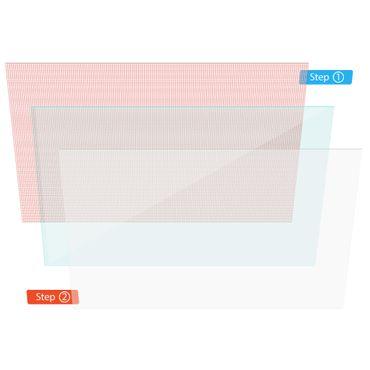 Display Schutz Folie Odys Titan 10 Schutzfolie 2x klar Universal Displayschutz  – Bild 2