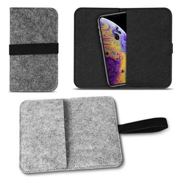 Filz Tasche für Apple iPhone Xs Hülle Schutz Cover Case Handy Schutzhülle Etui – Bild 2