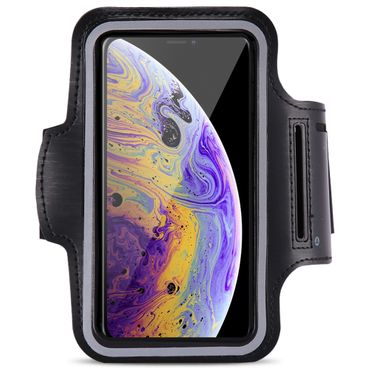 Sportarmband Handy Tasche für Apple iPhone Xs Jogging Armcase Fitness Case Hülle – Bild 2