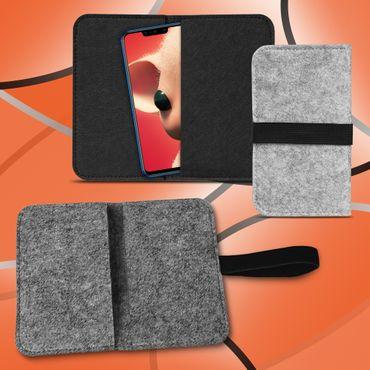 Handy Tasche Huawei P Smart Plus Filz Hülle Schutzhülle Cover Sleeve Schutz Case