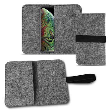 Handy Tasche Apple iPhone Xs Max Filz Hülle Schutzhülle Cover Sleeve Schutz Case – Bild 9