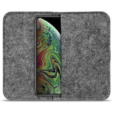 Handy Tasche Apple iPhone Xs Max Filz Hülle Schutzhülle Cover Sleeve Schutz Case – Bild 10