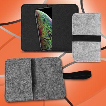 Handy Tasche Apple iPhone Xs Max Filz Hülle Schutzhülle Cover Sleeve Schutz Case – Bild 1