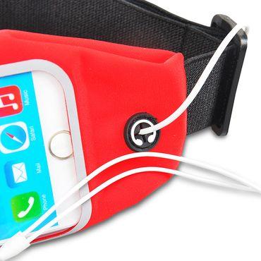 Handy Hülle Apple iPhone Xs Tasche Lauftasche Bauch Case Universal Fitness Cover – Bild 11