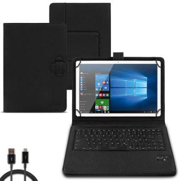 Tablet Hülle Lenovo Tab E10 Tasche Bluetooth Keyboard Tastatur Case QWERTZ Cover – Bild 1