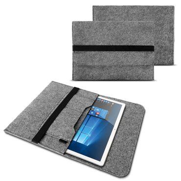 Lenovo Tab E10 Tasche Grau Sleeve Hülle Tablet Filz Cover Schutzhülle Case – Bild 8