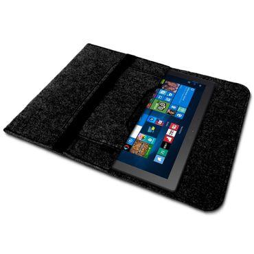 Odys ACE 10 Tasche Grau Sleeve Hülle Tablet Filz Cover Schutzhülle Case – Bild 3