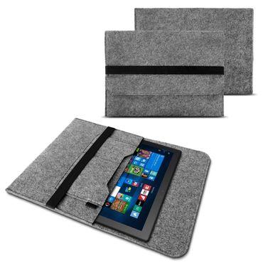 Odys ACE 10 Tasche Grau Sleeve Hülle Tablet Filz Cover Schutzhülle Case – Bild 8