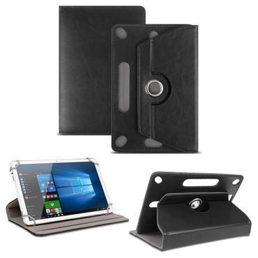 NAUC Universal Tablet Tasche mit Ständerfunktion Hülle für 9.7 - 10.1 Zoll Tablet Schutztasche in Schwarz Schutzhülle Stand Tasche Etui Cover Case hochwertige Verarbeitung 360° drehbar