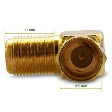 20x F-Stecker 20x SAT F-Winkelstecker Winkel Adapter Buchse Kupplung Vergoldet – Bild 5