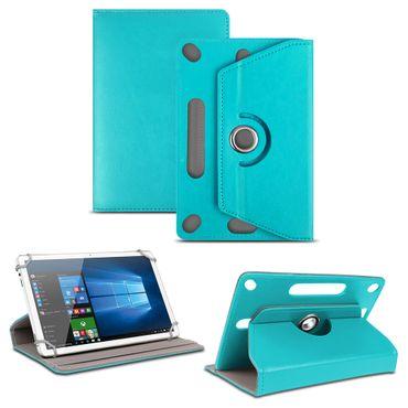 NAUC Universal Tablet Tasche mit Ständerfunktion Hülle für 9.7 - 10.1 Zoll Tablet Schutztasche in Türkis Schutzhülle Stand Tasche Etui Cover Case hochwertige Verarbeitung 360° drehbar