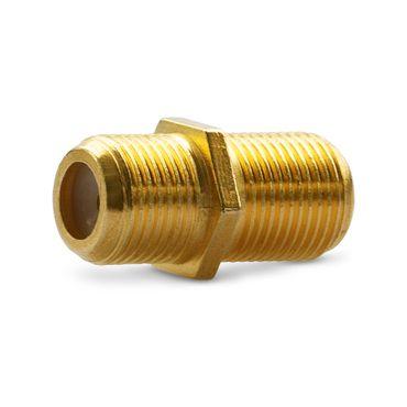 4x F-Verbinder Antennen Kabel Verlängerung Sat Buchse Kupplung Koaxial Vergoldet – Bild 3