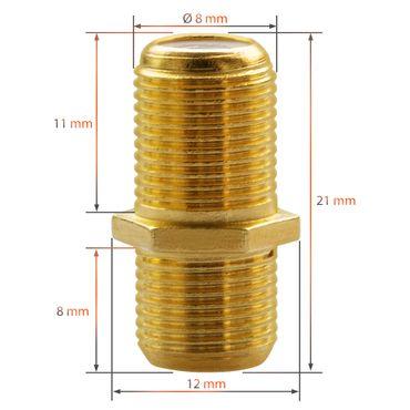 8x F-Stecker 4x F-Verbinder Sat Adapter Vergoldet Antennen Kabel Kupplung Buchse – Bild 4