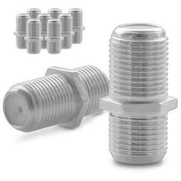 10x F Verbinder Sat Buchse Antennen Koaxialkabel Kabel Adapter Kupplung Koaxial – Bild 1