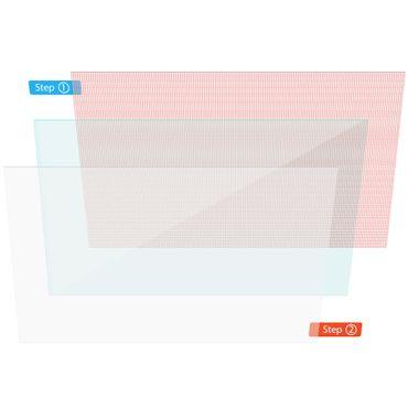 Displayschutzfolie für Denver TAQ-10403G Tablet Schutzfolie Universal Folie Klar – Bild 2