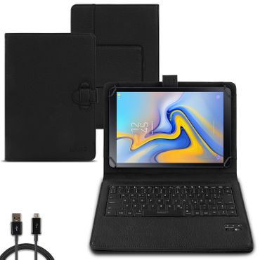 Tablet Hülle Samsung Galaxy Tab A 10.5 Tasche Bluetooth Tastatur Case QWERTZ  – Bild 1