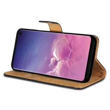 Leder Hülle für Samsung Galaxy S10 Plus S10e A20e A40 A50 A70 Schutzhülle Tasche – Bild 2