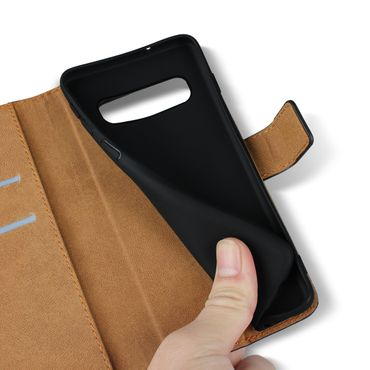 Leder Hülle für Samsung Galaxy S10 Plus S10e A20e A40 A50 A70 Schutzhülle Tasche – Bild 9