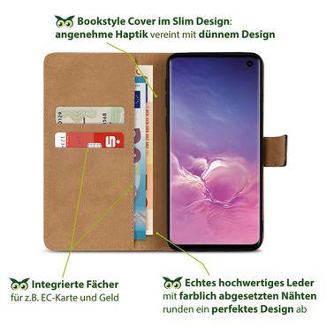 Leder Hülle für Samsung Galaxy S10 Plus S10e A20e A40 A50 A70 Schutzhülle Tasche – Bild 4
