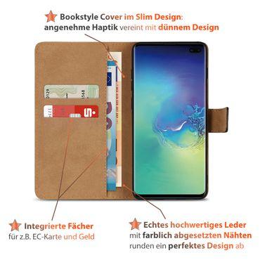 Leder Hülle Samsung Galaxy S10 Plus Tasche Book Cover Handy Flip Case Klapphülle – Bild 4