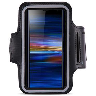 Sportarmband Schutzhülle für Sony Xperia 10 Hülle Tasche Schwarz Jogging Armcase – Bild 2