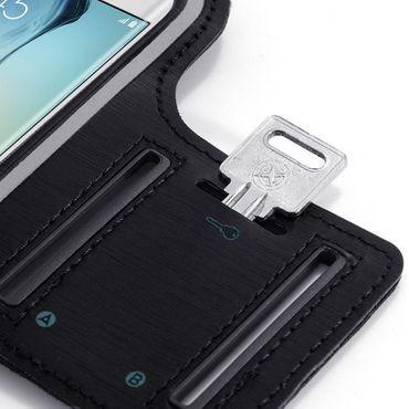 Sportarmband Schutzhülle für Sony Xperia 10 Hülle Tasche Schwarz Jogging Armcase – Bild 4