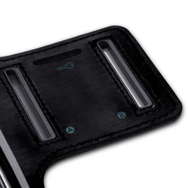 Sportarmband Schutzhülle für Sony Xperia 10 Hülle Tasche Schwarz Jogging Armcase – Bild 8