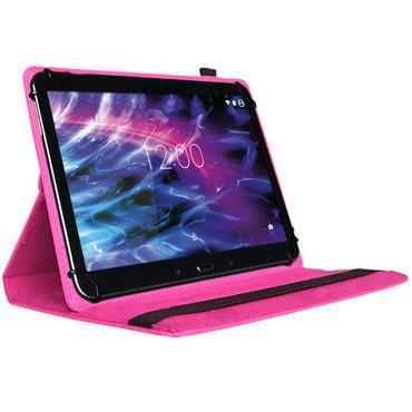 Medion Lifetab P9702 Tablet Tasche Hülle Pink Cover Case Schutzhülle 360 Drehbar – Bild 2