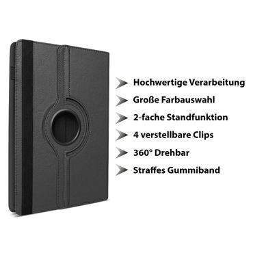 Medion Lifetab P10612 P10610 P10603 P10606 P10602 X10605 X10607 Hülle Tasche Schutzhülle Case Schwarz 360° Drehbar – Bild 7