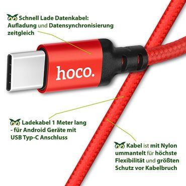 Datenkabel Sony Xperia L3 Schnell Ladekabel Typ-C USB Lade Daten Kabel Nylon 1m – Bild 14