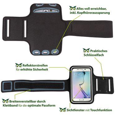 Schutzhülle Samsung Galaxy A70 Jogging Armcase Fitness Hülle Sportarmband Tasche – Bild 9
