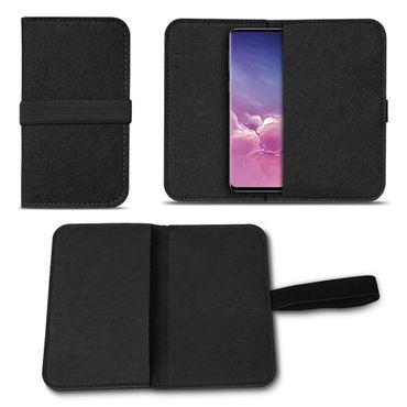 Filz Tasche Samsung Galaxy S10 Hülle Schutz Cover Case Handy Schutzhülle Etui – Bild 3
