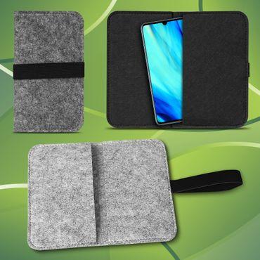 Filz Tasche Huawei P30 Pro Hülle Schutz Cover Case Handy Schutzhülle Filztasche – Bild 1