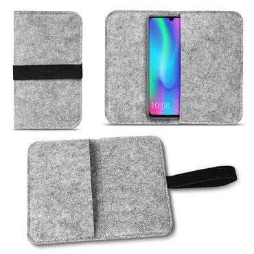 Filz Tasche Huawei Honor 10 Lite Hülle Schutz Cover Case Handy Schutzhülle Etui – Bild 15