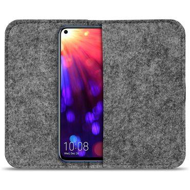 Filz Tasche Huawei Honor View 20 Hülle Schutz Cover Case Handy Schutzhülle Etui – Bild 10