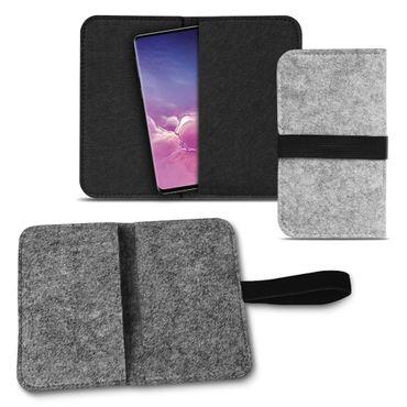 Handy Tasche Samsung Galaxy S10e Filz Hülle Schutzhülle Cover Schutz Sleeve Case – Bild 2