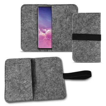 Handy Tasche Samsung Galaxy S10 Filz Hülle Schutzhülle Cover Schutz Sleeve Case – Bild 9