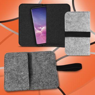 Handy Tasche Samsung Galaxy S10 Filz Hülle Schutzhülle Cover Schutz Sleeve Case – Bild 1