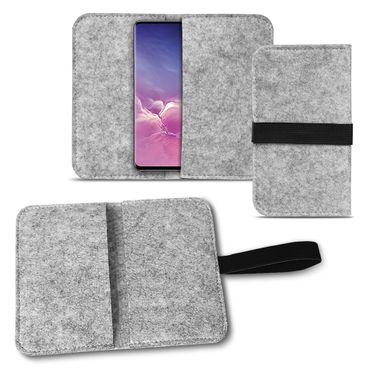 Handy Tasche Samsung Galaxy S10 Plus Filz Hülle Schutzhülle Cover Schutz Sleeve – Bild 15
