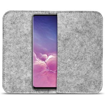 Handy Tasche Samsung Galaxy S10 Plus Filz Hülle Schutzhülle Cover Schutz Sleeve – Bild 16