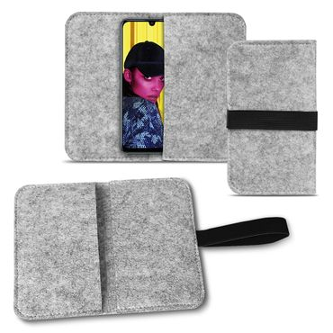 Handy Tasche für Huawei P smart 2019 Filz Hülle Schutzhülle Cover Schutz Sleeve – Bild 15