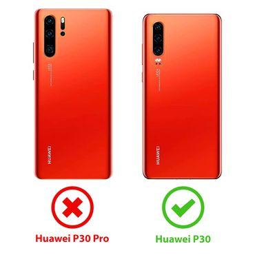 Hülle Bumper Huawei P30 Tasche Schutzhülle Slim Case Silikon Transparent Schale – Bild 7