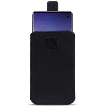 Schutzhülle Samsung Galaxy S10e Leder Hülle Handy Tasche Pull Tab Sleeve Schwarz – Bild 2