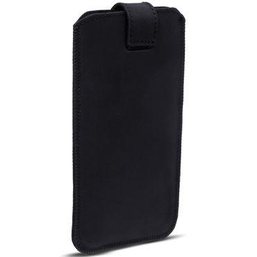 Schutzhülle Samsung Galaxy A20e Leder Hülle Handy Tasche Pull Tab Sleeve Schwarz – Bild 6
