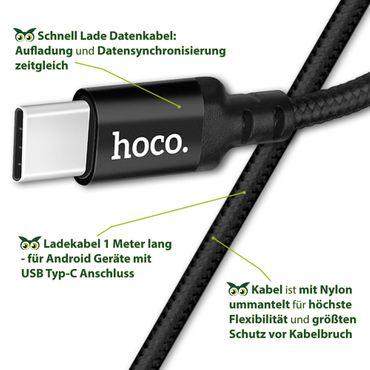 Ladekabel Huawei Honor 8X Max Schnell Datenkabel Typ-C USB Lade Kabel Nylon 1m – Bild 7