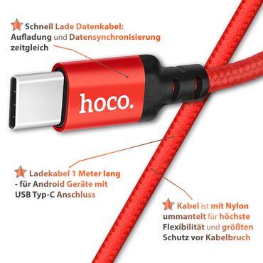 Schnell Ladekabel für Huawei Honor 8X Max USB C Typ C Nylon 1m Lade Daten Kabel – Bild 14