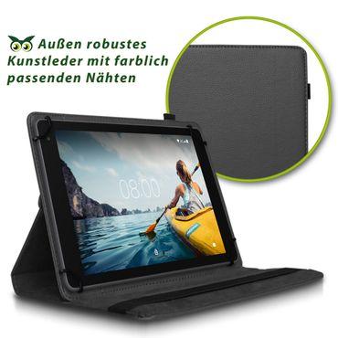 Hülle Medion Lifetab E10414 Tasche Schutzhülle Cover Case 360° Drehbar Schwarz – Bild 2